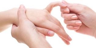 Valu liigese sormega