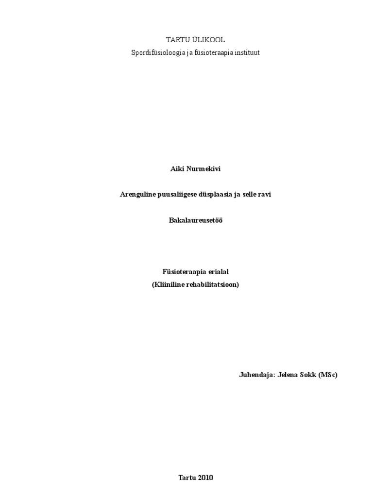Kuunarli liigese ravi Eesnaarme ja liigesevalu